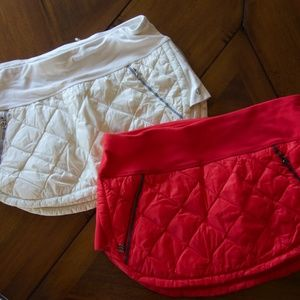 lululemon lot 2 quilted skirts sz 8